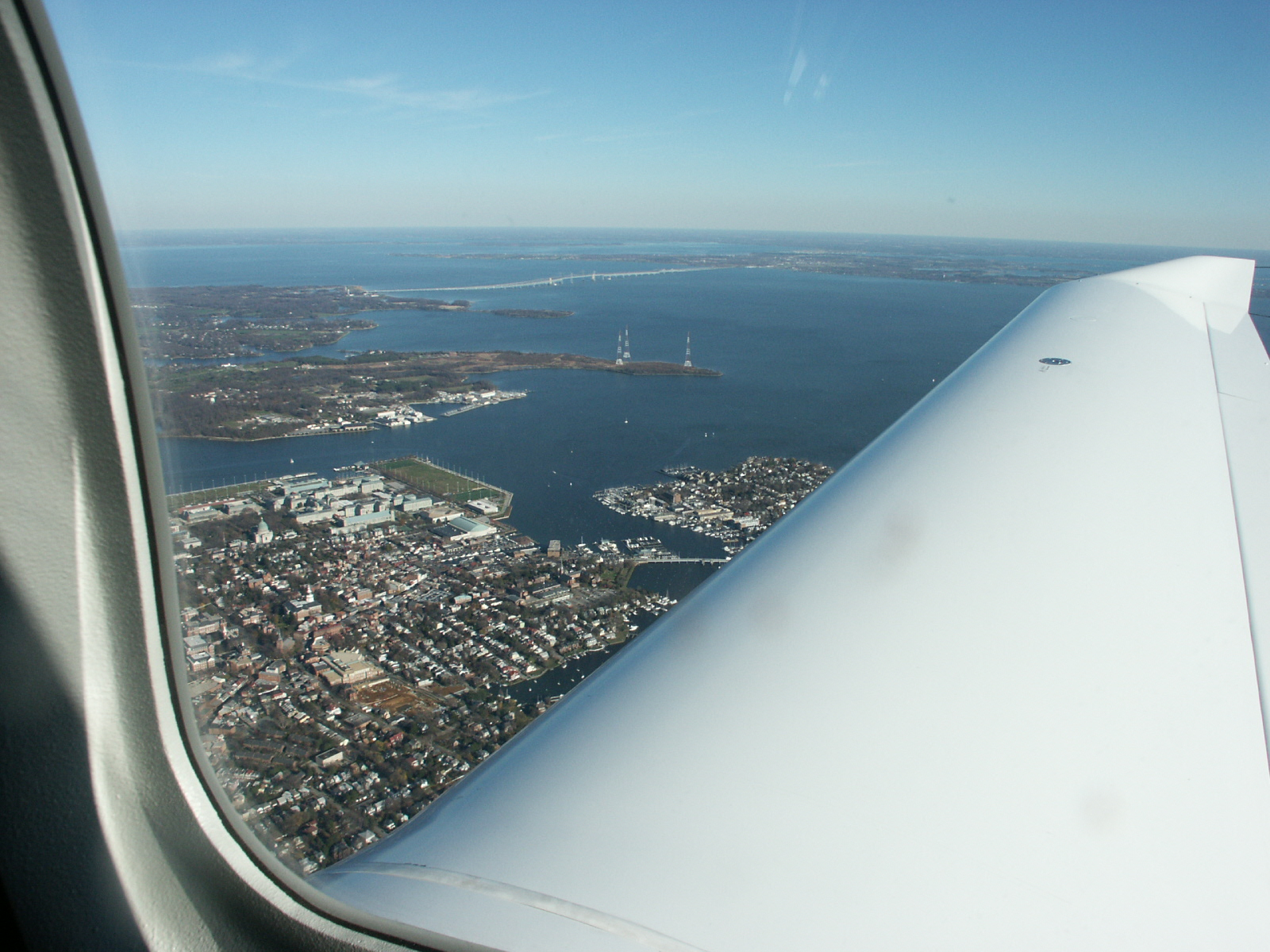 Flying over Annapolis